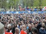 4 21 2014. Ukraine, Pro-Russian Mass Meeting In Lugansk