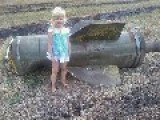 Little Donetsk Girl Awakes To Find Uncle Porky Poroshenko Has Installed New Play UFO Equipment In Local Park