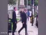 David Cameron Shoved In The Street By Member Of The Public