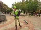 Unicycling Piper Performs Tackles The Legend Of Zelda