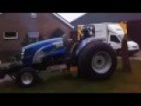 Removing A Tree Stump With A Super Stock Pulling Tractor!