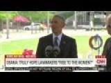 Obama Implicitly Blames GOP For Arming Terrorists At Orlando Memorial