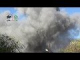 Assadist Plane Drops TNT Barrels On A Residential District