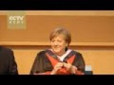 Merkel Receives Honorary Doctor's Degree In China