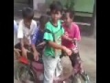 Funny Kids Ride A Motorcycle
