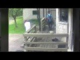 #Idiotic Moment Man Cuts Himself Trying To Break Into House