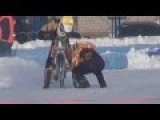 Russian's Racing Motorcycles On Ice