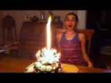 Birthday Girl Is Made Speechless By The Lotus Flower Candle