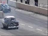 55 Chev Drag Race Rollover