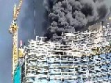 Fire On The Construction Of A Skyscraper Warsaw Spire