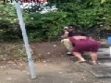 BROTHA Gets A BLOW JOB At The BUS STOP = While On Cell Phone =