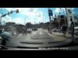 Driver Takes Out Pedestrian Texting In A Crosswalk