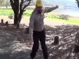 Park Ranger Dancing To Bird Machine!