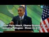 Obama Shames GOP Opposing Refugees
