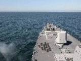 Guided-Missile Destroyer Fires 5-Inch Gun During Baltic Sea Exercise