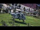 USMC Aircraft Land In Downtown Nashville