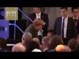 Merkel Greets Refugee Boy For His Support For Her Refugee Policies