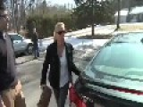 **ANGRY WOMAN SMACKS** Annoying TV REPORTER With Her Purse She's Pissed Off!