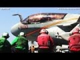 52,000,000 $ AIRCRAFT EA-6B PROWLER Preparing For TAKEOFF From USS George H.W Bush - CODE 1079