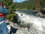 Jet Boat Powers Upstream