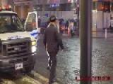 NYPD Throw Man On Ground For Ellen Dance Dare Edited