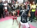 5 Year Old Shows His Muay Thai Skills