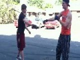 Dude Knocks His Wingman Out! HD