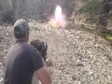 6 Year Old Marksman Exploding A Zombie Target