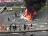 Lamborghini Gallardo LP 560 High Speed Crash,and Fire Suppression Fail