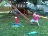 Little Girl Hits Mom With Ball