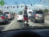 Motorcyclist Funny Dancing :D