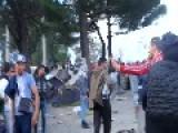 Protests Erupt At Migrant Camp On Greek-Macedonian Border