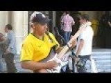 Sultans Of Swing By Brazilian Street Performer