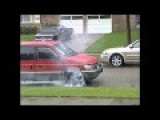 BURNOUT, Minivan Blowing Up Transmission Doing A Burnout