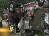 $750,000 Fire Truck Crash In Raleigh, NC, USA