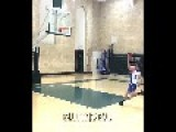 6'2 College Basketball Player Dunks From Behind Three Point Line