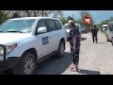 OSCE Observers In Sahanka Get Shouted At By Locals