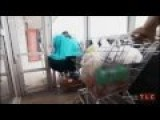 Walmart: Fat Wheelchair Woman Sandwiched Between Automatic Doors