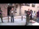 Russian Terrorist Show Off Ukrainian Lieutenant To Russian Civilians In Ukraine
