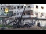 Very Brutal Extra Ordinary Scooped Home Made Cannon In Al-Maliha, Damascus