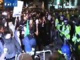 See Protestors BATTLE Police At London Million Mask March