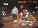 BIG BLACK MAN Takes A Swing At POLICE Officer = Gets TASED =
