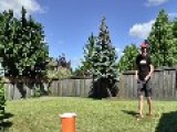 Guy Does Amazing Tricks With Golf Club And Ping Pong Ball