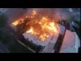 Houses On Fire As Shells Land On Residential Quarters In East Ukraine's Donetsk