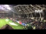 Bosnian Fans Shouting During Minute's Silence For Paris Victims