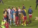 Serbia - Albania 2014 EM Scandal Serbians Freaks Out