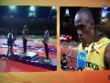 Usain Bolt Cuts Interview For The American National Anthem