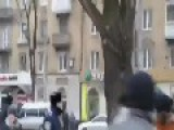Nato Occupants Running From The Crowd's Wrath In The Ukrainian City Of Donetsk