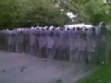 700 Riot Police Square Off With Strikers