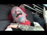 Complete Ass Clown Tattoos His Ugly Face - TWAT!